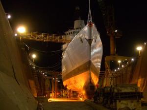 Fregatte Lübeck in der Werft